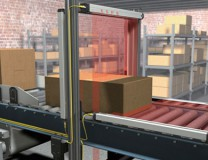 Measuring light curtains applied in logistics and storage